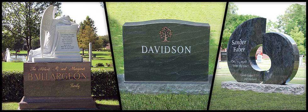 Click to view custom monuments and headstones ...