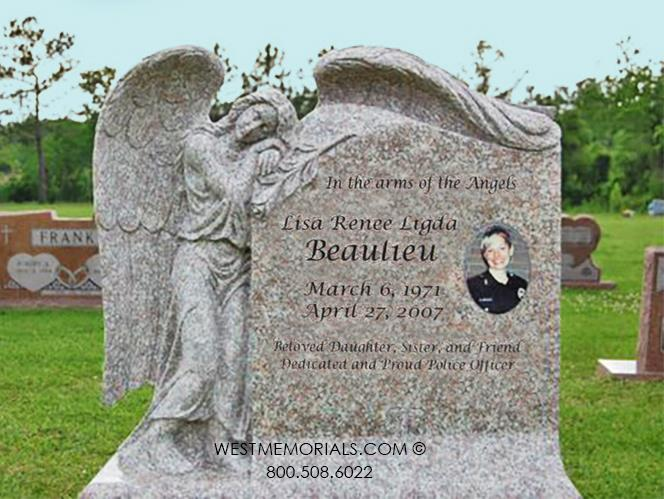 Beaulieu-monument-headstone-custom-beautiful-cemetery-gravestones-pink-granite-angel-carving-West-Memorials-1-unique-stone-porcelain portrait