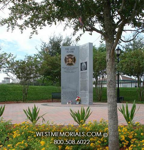 Bradenton FL Fire & Police Memorial Monuments by West Memorials
