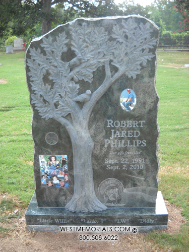 Phillips Monument And Headstone Designs By West Memorials