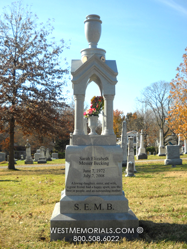 Stone Cemetery Columns : Offering granite headstones custom monuments head stones