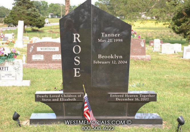 Rose Monument And Headstone Designs By West Memorials