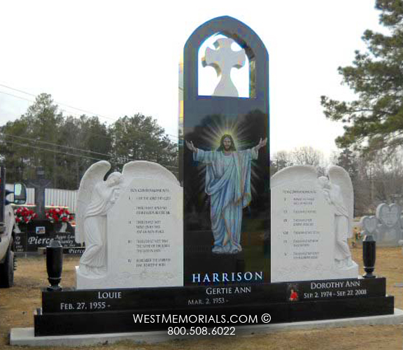 Harrison Carved Angels Amp Jesus Traditional Monument In