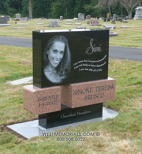 Red Granite Headstones : Laser etched headstones and monuments red granite