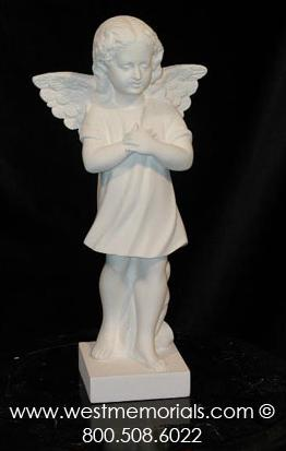 167 Angel Bonded Marble Cemetery Statue by West Memorials