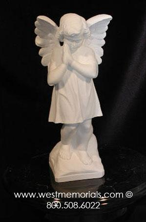 317 Angel Bonded Marble by West Memorials