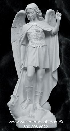 386 St. Michael is made from bonded marble by West Memorials.