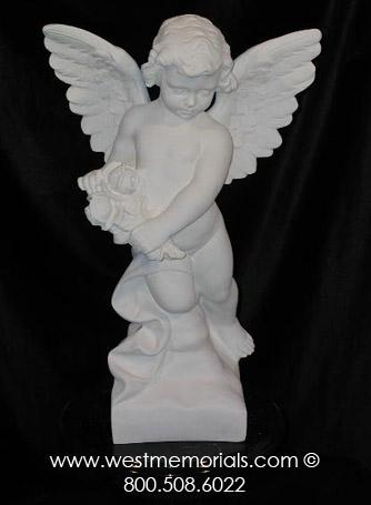 279 Angel is created from bonded marble by West Memorials.