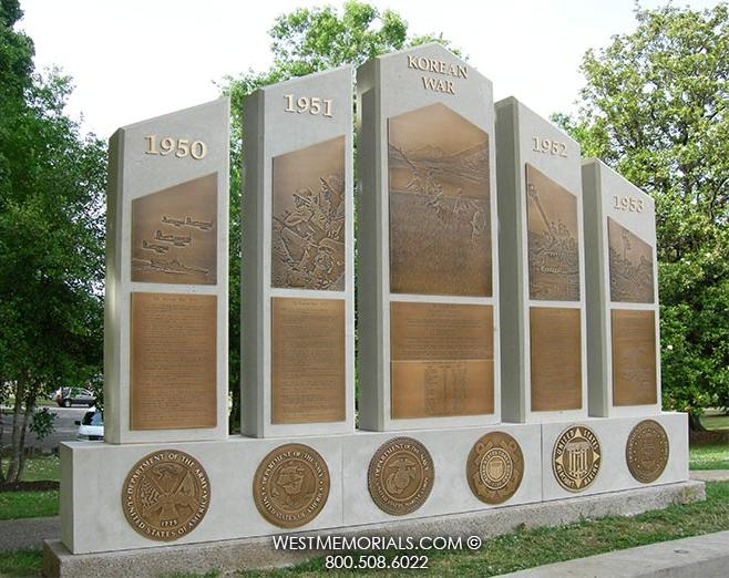Korean War Civic and War Memorial by West Memorials