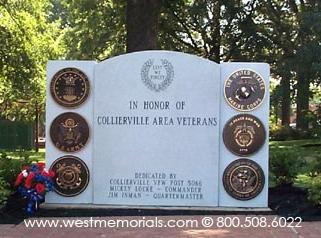 Collierville TN Civic and War Memorial by West Memorials