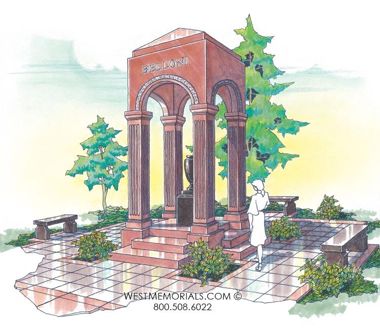 Belloni Mausoleum Designs by West Memorials