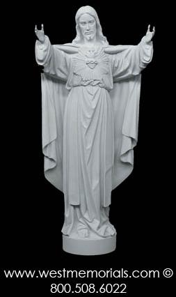 139 Sacred Heart of Jesus Bonded Marble by West Memorials