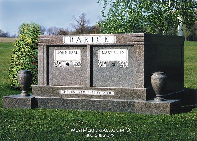 Rarick Mausoleum Design by West Memorials