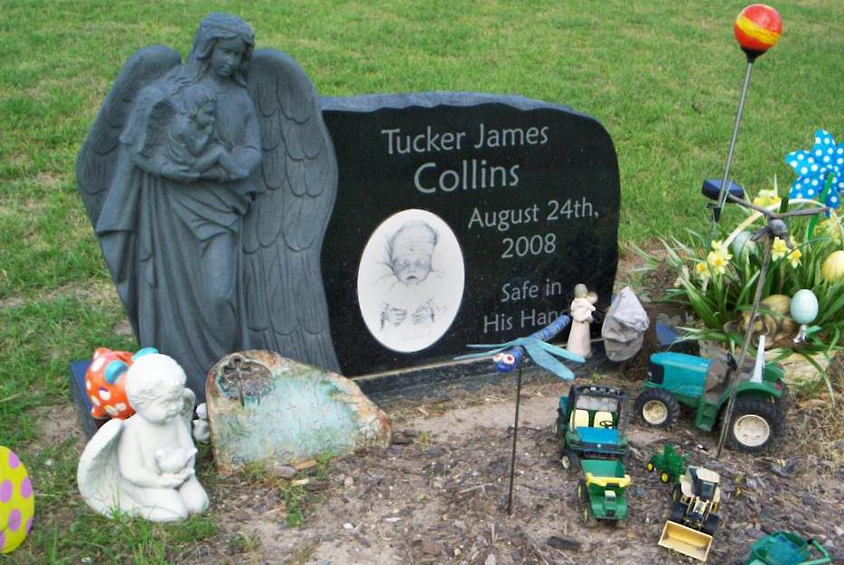black granite, granite, infant headstone, memorial