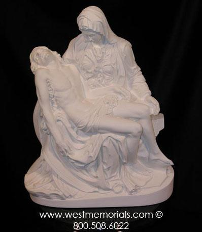 157 Pieta Bonded Marble Michelangelo Sculpture Inspired by West Memorials