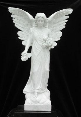 231 Angel is made from bonded marble by West Memorials.