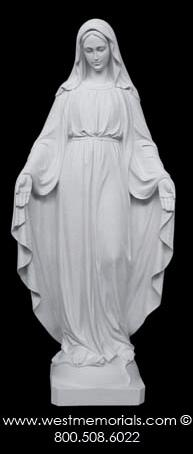 355 Our Lady of Grace is created from bonded marble by West Memorials.