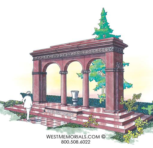 Kuhlenschmidt Mausoleum Designs by West Memorials