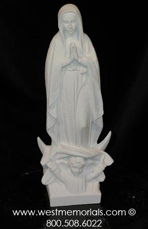 234 Our Lady of Guadalupe Bonded Marble by West Memorials
