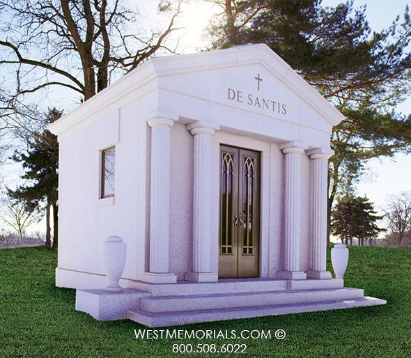 DeSantis Mausoleum Designs by West Memorials