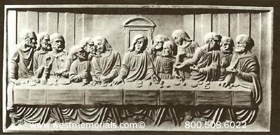 105 The Last Supper Statue by West Memorials