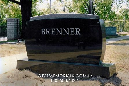Brenner simple and contemporary family monument by West Memorials