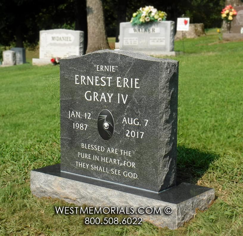 american black granite, stone, memorial, dragon emblem, dragon headstone, dragon memorial