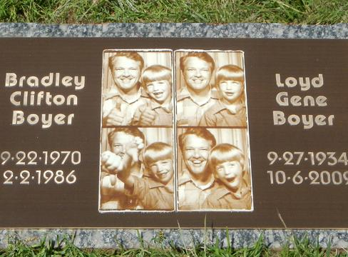 Boyer Custom Bronze Grave Markers Design for Brother and Dad.