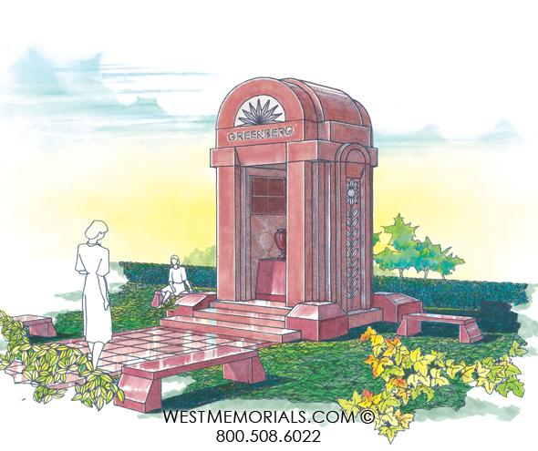 Greenberg Mausoleum Designs by West Memorials