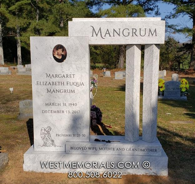 marble, mangrum, custom design, memorial