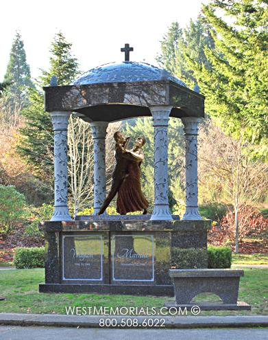 Black Monument and Headstone Design by West Memorials