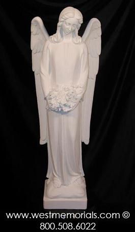 308 Angel is made from bonded marble by West Memorials.