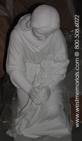 183 Lady in Mourning Bonded Marble by West Memorials