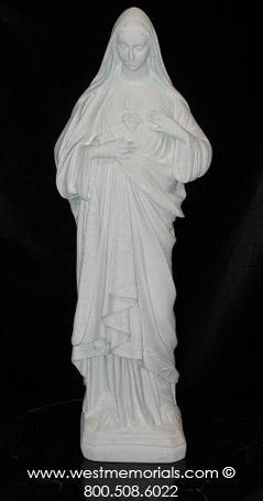 381 Sacred Heart of Mary is created from bonded marble by West Memorials.