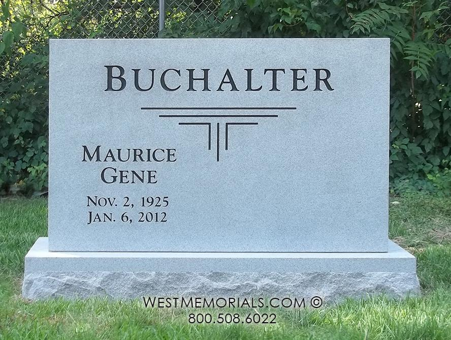 Buchalter Simple & Contemporary Companion Monument by West Memorials