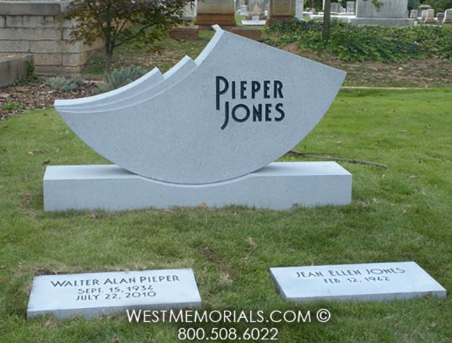 Pieper Jones Gray Contemporary Design by West Memorials