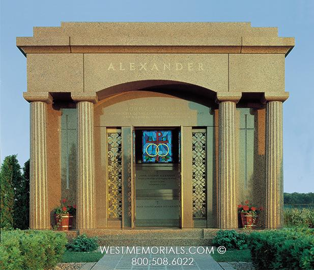 Alexander Mausoleum Design by West Memorials