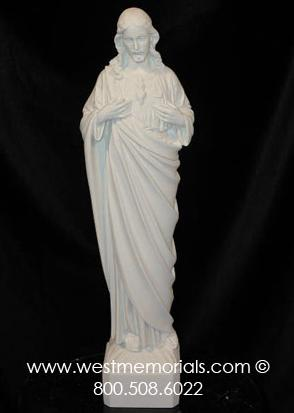 135 Sacred Heart of Jesus Bonded Marble by West Memorials